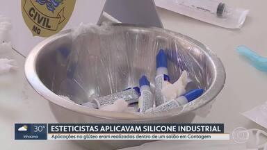 Mulheres são presas na Grande BH por suspeita de aplicar silicone industrial em clientes - De acordo com a Polícia Civil, agendamentos eram feitos por um grupo em uma rede social.