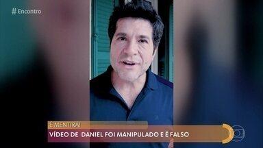 Vídeo de Daniel é manipulado para mostrar como são as deepfakes - Manipulação virtual pode alterar rosto e voz e criar vídeo que parece muito verdadeiro. O advogado Ronaldo Lemos explica o perigo das deepfakes