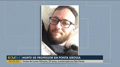 Foi enterrado em São Paulo corpo de professor que desapareceu em Ponta Grossa - Ex-mulher dele é suspeita de envolvimento no crime.