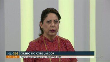 Professora de Direito do Consumidor responde dúvidas dos telespectadores - Na véspera do Natal, professora Cristina Delgado participou do Meio - Dia Paraná para tirar dúvidas dos telespectadores.