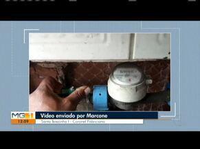 VC no MG: Confira os vídeos enviados pelos telespectadores - Morador de Coronel Fabriciano reclama da falta d'água no bairro Santa Terezinha I.