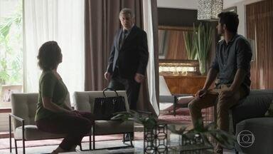 Machado, Nana e Marcos resolvem ir até a editora atrás de Alberto - Eles descobrem o paradeiro do empresário