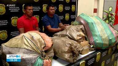 Homens são presos com 400 kg de drogas às margens do Rio Negro em Manaus - Homens são presos com 400 kg de drogas às margens do Rio Negro em Manaus
