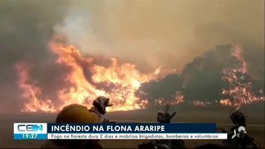 Incêndio na Floresta Nacional do Araripe já dura mais de 2 dias - Confira mais notícias em g1.globo.com/ce