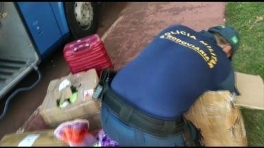 Mais de uma tonelada de drogas foi transportada em ônibus de passageiros em MS - A polícia militar rodoviária descobriu a ação do chamado tráfico de formiguinha.
