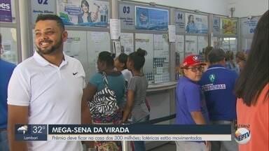 Mega-sena da virada deve pagar R$ 300 milhões - Lotéricas do Sul de Minas estão movimentadas