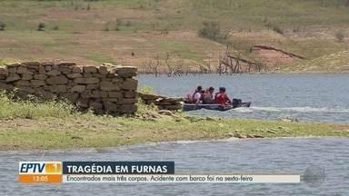 Corpos de família são encontrados após barco virar na Represa de Furnas - Homem de 60 anos e duas crianças foram localizados pela Marinha neste domingo (29).