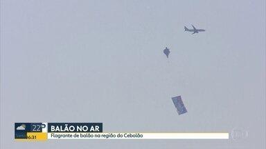 Perigo no céu de São Paulo - Globocop flagra balão na região do Cebolão