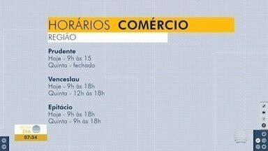 Comércio no Oeste Paulista funciona em horário especial nesta terça-feira - Confira os horários de atendimento em algumas cidades.