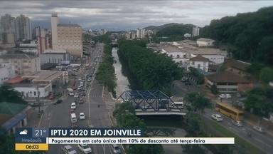 Pagamento do IPTU em Joinville tem desconto de 10% na cota única - Pagamento do IPTU em Joinville tem desconto de 10% na cota única