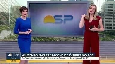 Tarifa de ônibus permanece em R$ 4,75 no ABC - Santo André e São Bernardo do Campo aumentaram valor da tarifa