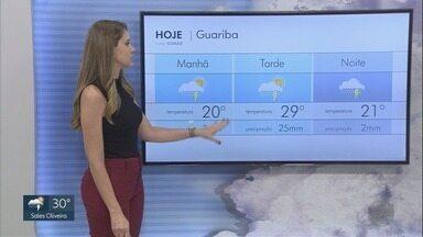 Veja a previsão do tempo para a região de Ribeirão Preto, SP - Pode chover durante o dia.
