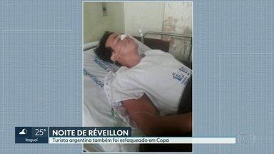 Turista Argentino foi esfaqueado na noite do Réveillon em Copa - A delegacia de Apoio ao Turismo, DEAT, confirmou o caso. O nome dele não foi revelado. O argentino está no hospital Souza Aguiar.