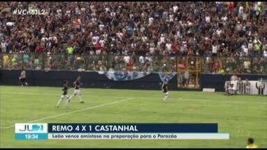 Remo goleia o Castanhal por 4 a 1 no Baenão. Veja os gols: - Remo goleia o Castanhal por 4 a 1 no Baenão. Veja os gols: