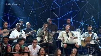 Grupo Vou pro Sereno abre o Altas Horas - Ao som de 'Aquele Abraço', Serginho apresenta convidados