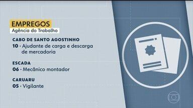 Confira vagas de emprego disponíveis na Agência do Trabalho - Cabo de Santo Agostinho oferece 10 vagas para ajudante de carga e descarga de mercadoria.