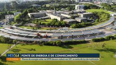 Placas de energia solar na UFPR devem reduzir em 50% a conta de luz da instituição - undefined
