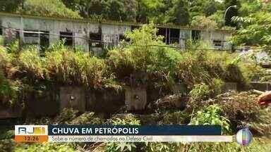 Sobe o número de chamados na Defesa Civil, em Petrópolis, no RJ - Neste domingo (5), o distrito da Posse também foi atingido pela chuva forte e muito moradores tiveram prejuízo.