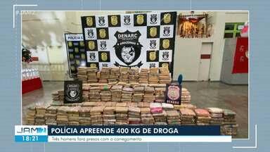 Homens são presos com cerca de 400 kg de drogas escondidos em casa e caminhão em Manaus - Suspeitos arrumavam drogas para serem levadas e comercializadas no Rio de Janeiro.