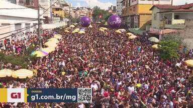 G1 no BDMG: blocos de Carnaval de BH já fazem ensaios abertos ao público nesta semana - Para este ano, o veterano Samba Queixinho celebra os 90 anos do Mercado Central. Já o Bloco Faraó, que estreou em 2019, prepara um desfile para destacar as minorias.