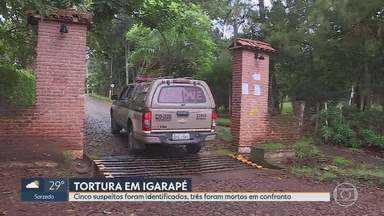 Suspeitos de torturar PMs são ouvidos em Belo Horizonte - Segundo corporação, houve confronto e troca de tiros. Casal de militares foi torturado dentro de residência em Igarapé, na Grande BH.