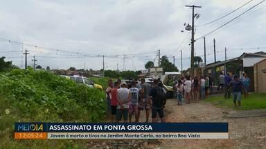 Jovem é executado depois de tentar se esconder em imóvel em Ponta Grossa - Crime foi na manhã desta terça-feira (7) no Jardim Monte Carlo, na região do bairro Boa Vista.