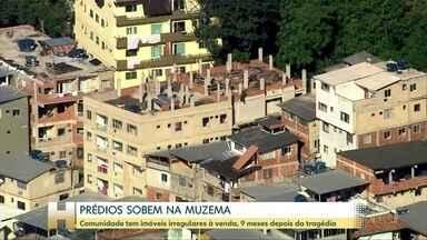 Construções irregulares avançam perto de onde prédios desabaram na Muzema, Rio - Imóveis são vendidos na Muzema, Zona Oeste do Rio, por R$ 100 mil; 24 morreram em tragédia em abril.