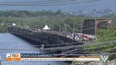 São Vicente assina contrato com empresa responsável por obra na Ponte dos Barreiros - Assinatura do contrato para o projeto executivo acontece nesta terça-feira (7).