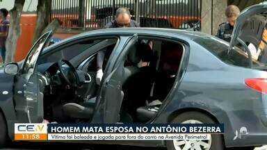 Homem mata esposa e joga o corpo pra fora do carro - Saiba mais no g1.com.br/ce