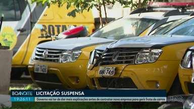 TV suspende licitação para empresa que iria gerir frota de carros do Governo do Estado - O Estado vai ter que apresentar mais explicações antes de contratar nova empresa.