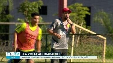 Fla volta aos treinos em meio à crise política - Demissão do gerente de futebol agita o clube. Time principal continua em férias até dia 22 e não disputa a Taça Guanabara.
