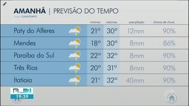 Quarta-feira segue com tempo quente e abafado no Sul do Rio - Há previsão de pancadas de chuva em algumas cidades da região.