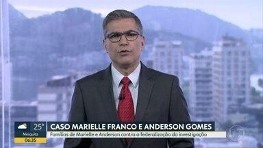 Famílias de Marielle e Anderson pedem que caso não seja federalizado - Defensoria Pública do Rio protocolou petição.