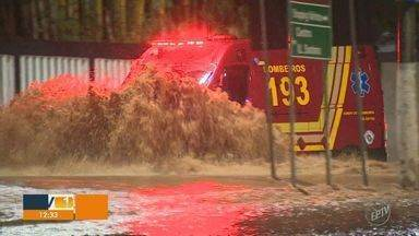 Chuva forte causou transtornos em algumas cidades da região de Campinas - Campinas e Hortolândia registraram os maiores volumes do estado.