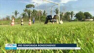 Rondoniense Social Clube dá início a pré temporada 2020 - Treinos começaram intensos no CT do time. Expectativa é das melhores para a estreia em fevereiro.