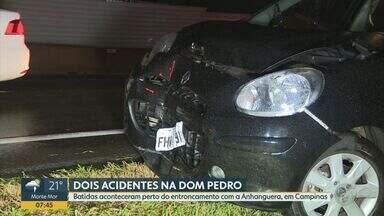 Caminhão carregado com placas de energia solar tomba em Campinas - undefined