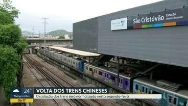 Supervia regulariza circulação de 40 trens nesta segunda-feira (13) - A partir desta segunda-feira (13), a circulação dos trens nos ramais de Deodoro, Santa Cruz e Japeri volta ao normal nos horários de pico. Os 40 trens chineses que estavam fora de circulação, voltaram a funcionar.