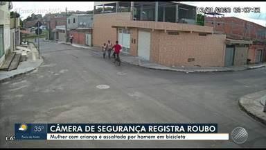Câmeras de segurança registram assaltos em Feira de Santana - Confira as imagens.