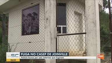 Internos rendem agentes e fogem do Casep de Joinville - Internos rendem agentes e fogem do Casep de Joinville