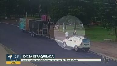 Morre idosa esfaqueada por administrador de empresas em praça de Ribeirão Preto - Aposentada de 65 anos estava internada há 10 dias na Santa Casa e foi submetida a 2 cirurgias. Eduardo Liboni Sella, de 36 anos, está preso e defesa alega que ele sofre de esquizofrenia.