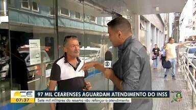 97 mil cearenses esperam atendimento do INSS - Saiba mais em g1.com.br/ce