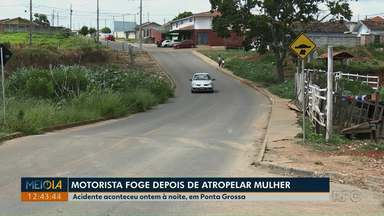 Motorista foge depois de atropelar e matar mulher em Ponta Grossa - Acidente aconteceu na noite de terça-feira (15), no bairro Oficinas.