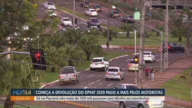 Começa a devolução do DPVAT 2020 pago a mais pelos motoristas - Só no Paraná são mais de 100 mil pessoas com direito ao reembolso.