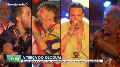 Grupo Olodum e convidados movimentaram o Pelourinho na terça-feira - Saulo Fernandes foi um dos convidados no show.