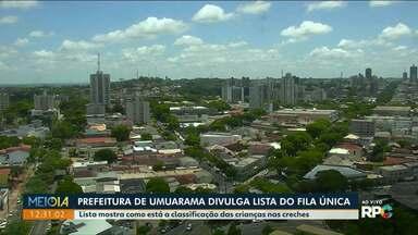 Secretaria da Educação de Umuarama divulga classificação do Sistema Fila Única - Matrículas devem ser abertas na próxima semana, mas ainda não tem uma data definida.