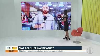 Sacolas plásticas não são mais grátis nos supermercados do estado do Rio - Determinação começa a valer para todo o estado a partir desta quarta-feira (15).