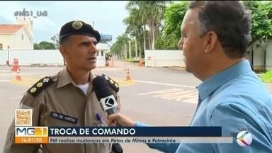 PM realiza troca de comando em batalhões do Triângulo e Alto Paranaíba - Ituiutaba, Patos de Minas e Patrocínio tiveram trocas no comando de batalhões.