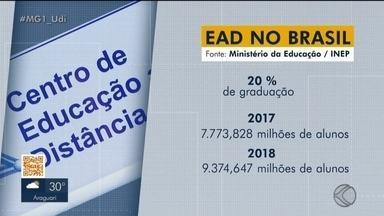 Ensino a distância cresce no Triângulo e Alto Paranaíba - Região conta com aumento no número de matrículas nas graduações a distância. No Brasil, o EAD já é responsável por 20% das matrículas de graduação.