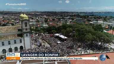 Lavagem do Bonfim: Veja a movimentação na Sagrada Colina nesta quinta-feira - Tradição atrai milhares de baianos e turistas na região da Cidade Baixa.