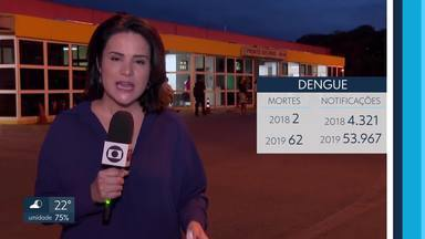 Casos de denguem explodem em 2019 - Balanço da secretaria de Saúde revela 53.967 notificações contra 4.321 em 2018.62 pessoas morreram.